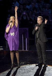 Barbara Schöneberger und Oliver Pocher moderierten den Echo 2009.