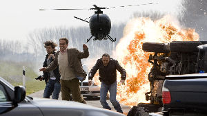 Alarm für Cobra 11: Ben (Tom Beck), Flensmann (Christian Tramitz) und Semir (Erdogan Atalay, v.l.n.r.). Foto: RTL