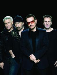 Bono (2.v.r.) mit Band: No Line On The Horizon heißt das aktuelle Album von U2. Foto: Universal Music / Deirdre O´Callaghan