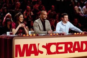 Mascerade: Senna von Monrose, Detlef D! Soest und Viva-Moderator Klaas Heufer-Umlauf sind die Jury für ein bizarres Spektakel. Foto: ProSieben / Chris Rügge.